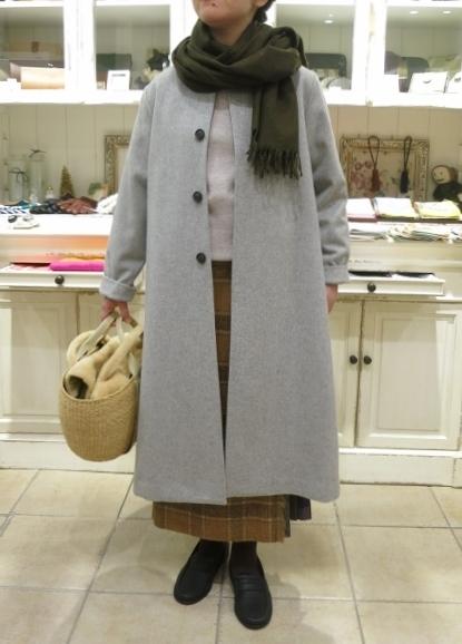 お正月のお出かけには、3柄を合わせたキルトスカートで・・・_c0227633_15391546.jpg
