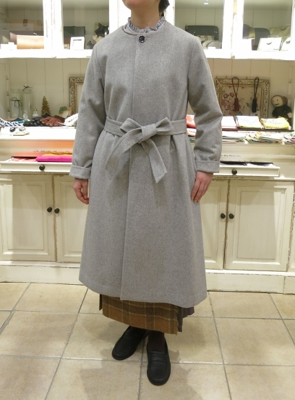 お正月のお出かけには、3柄を合わせたキルトスカートで・・・_c0227633_15394076.jpg