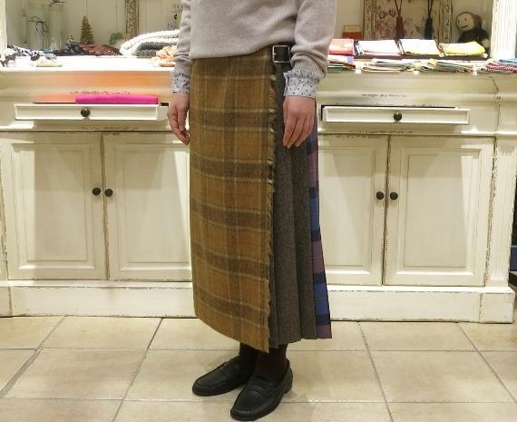 お正月のお出かけには、3柄を合わせたキルトスカートで・・・_c0227633_15402490.jpg