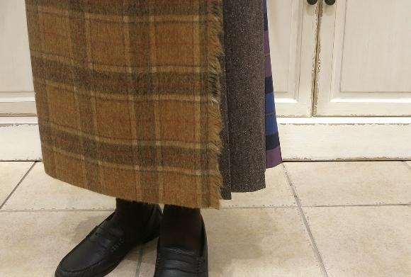 お正月のお出かけには、3柄を合わせたキルトスカートで・・・_c0227633_15411731.jpg