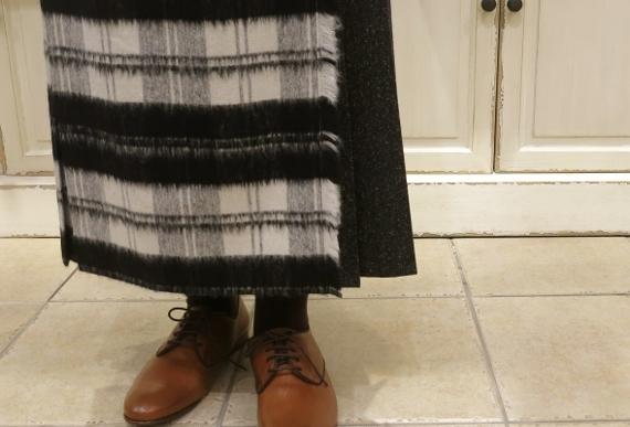お正月のお出かけには、3柄を合わせたキルトスカートで・・・_c0227633_15433612.jpg