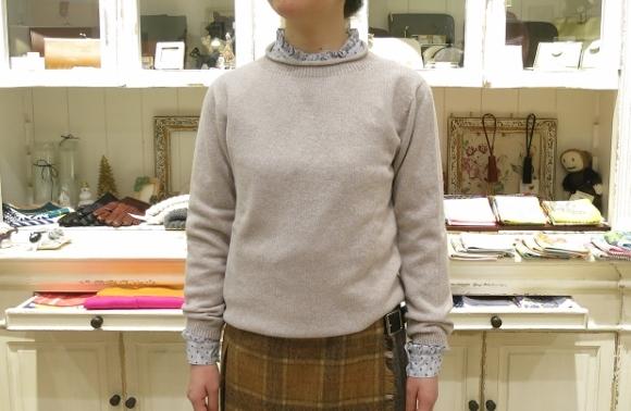 お正月のお出かけには、3柄を合わせたキルトスカートで・・・_c0227633_15440941.jpg