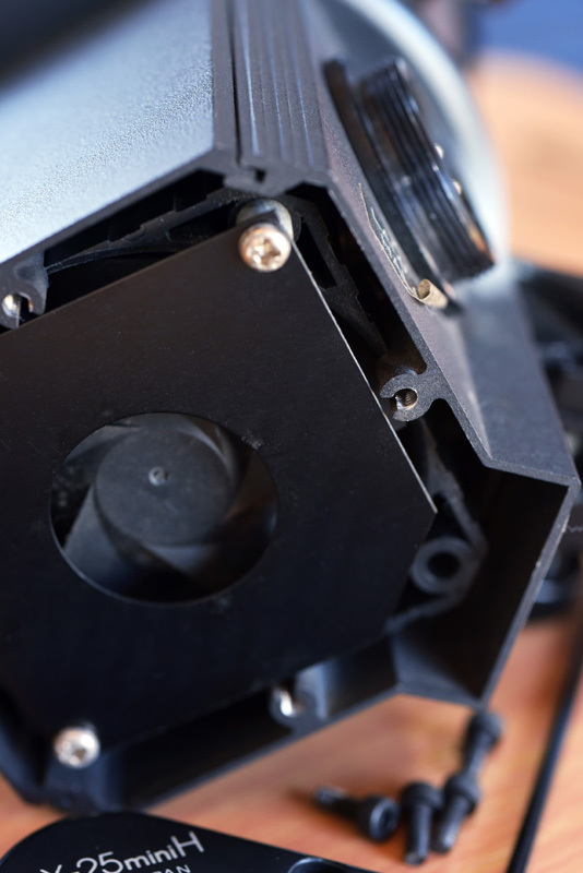 ストロボヘッド修理 COMET CLX-25miniH_b0175635_10122344.jpg