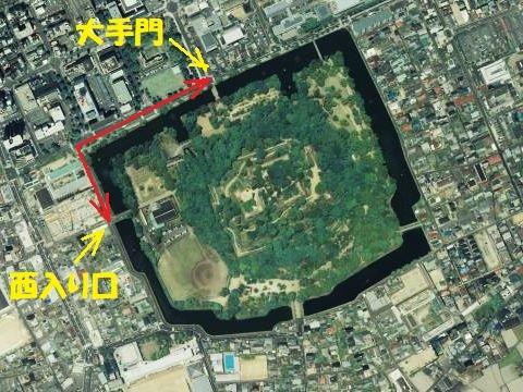 池の水をぜんぶ抜く大作戦??? at 丸亀城_e0146484_16102976.jpg
