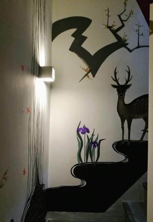 赤坂オフィスビル 壁画制作終了_c0114110_09314863.jpg