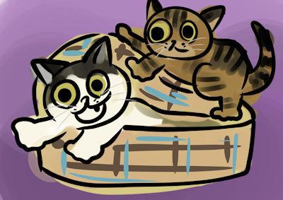 今年のブームはオンザ猫ハウス_d0034352_22040083.jpg