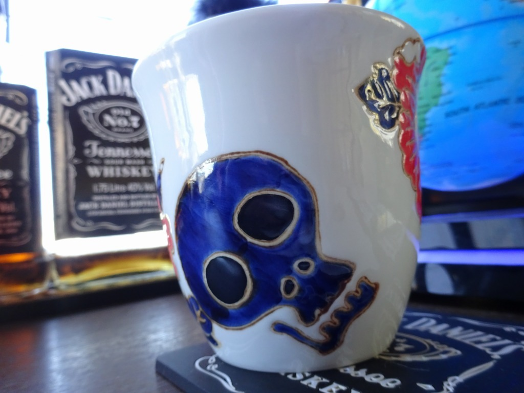 田老復興!はまなすコーヒーをお気に入りドクロのカップで_d0061678_11191852.jpg