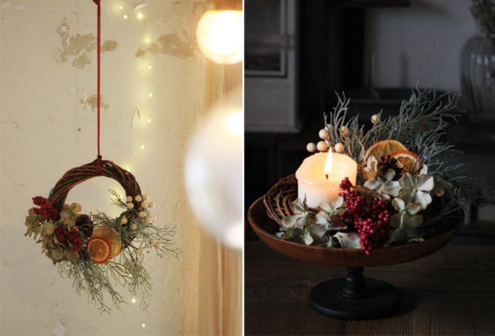 100均の造花だけで「クリスマスリース」を簡単DIY_d0351435_17523563.jpg