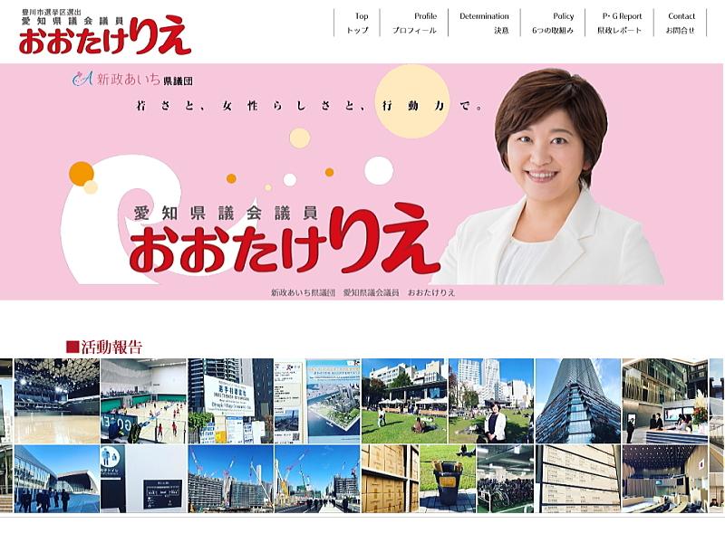 ■HP制作実績[愛知県議会議員おおたけりえ さま]_d0130291_10191383.jpg