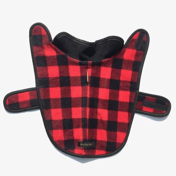 ILKARE Dog Jacket イルカレ ドッグジャケット レッドブラック_d0217958_1445893.jpg