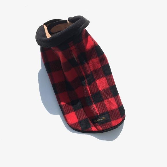 ILKARE Dog Jacket イルカレ ドッグジャケット レッドブラック_d0217958_1454149.jpg