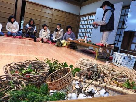 米作り4・わらでリースを作ろう_a0123836_15570842.jpg