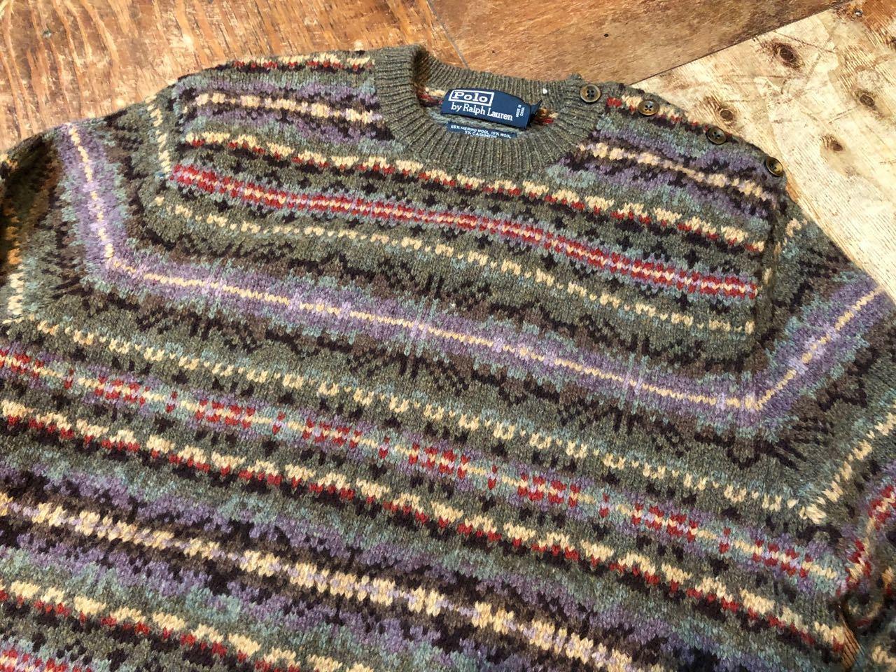 12/24(月)入荷! ラルフローレン 手編み HAND KNIT セーター_c0144020_19121552.jpg