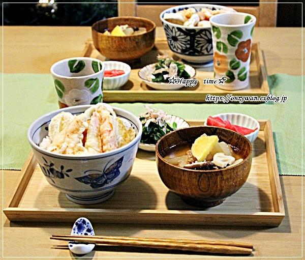 牛肉で柚子胡椒炒め弁当と天丼♪_f0348032_18362120.jpg