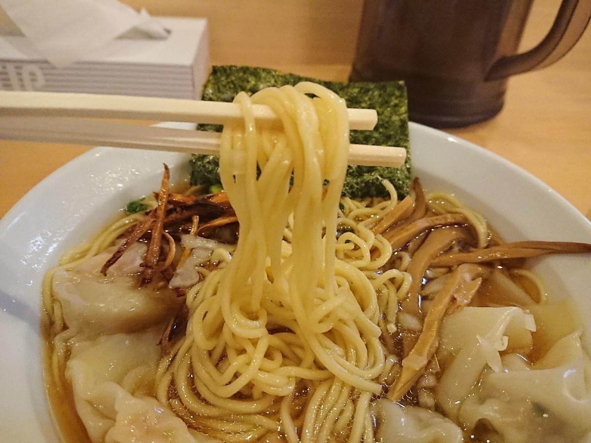 12/24  新橋纒高幡不動店  鶏がらスープのワンタン麺 ¥880_b0042308_19133712.jpg