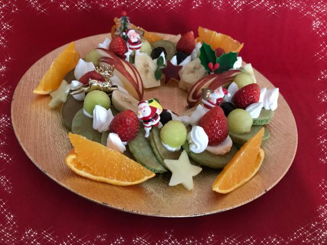 クリスマスに・・まるでリースなパンケーキ☆_e0141159_21203091.jpeg