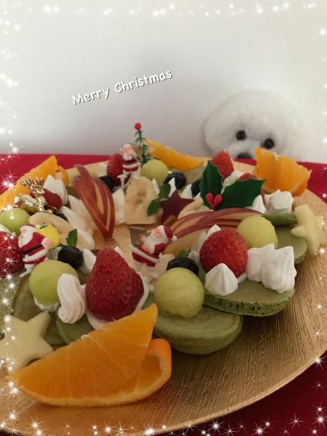 クリスマスに・・まるでリースなパンケーキ☆_e0141159_21210911.jpeg