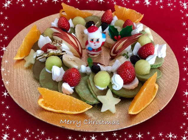 クリスマスに・・まるでリースなパンケーキ☆_e0141159_21213290.jpeg