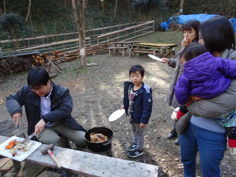 孝子の森で「里山クリスマス」(ピザ職人体験&ケーキつくり)_c0108460_20013269.jpg