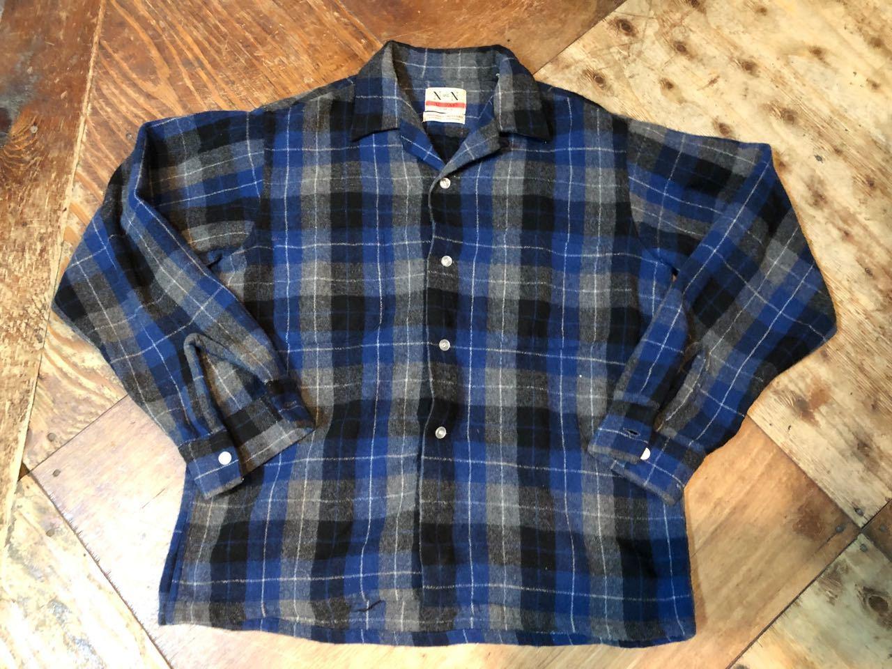 12月26日(水)入荷!60s ボックス、オープンカラー wool shirts!_c0144020_19360701.jpg