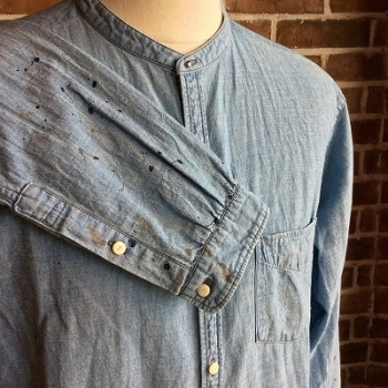 STUD BUTTON BAND COLLAR ATRIER SHIRTS  NEIGHBORHOOD × OLD JOE_d0100143_13285452.jpg