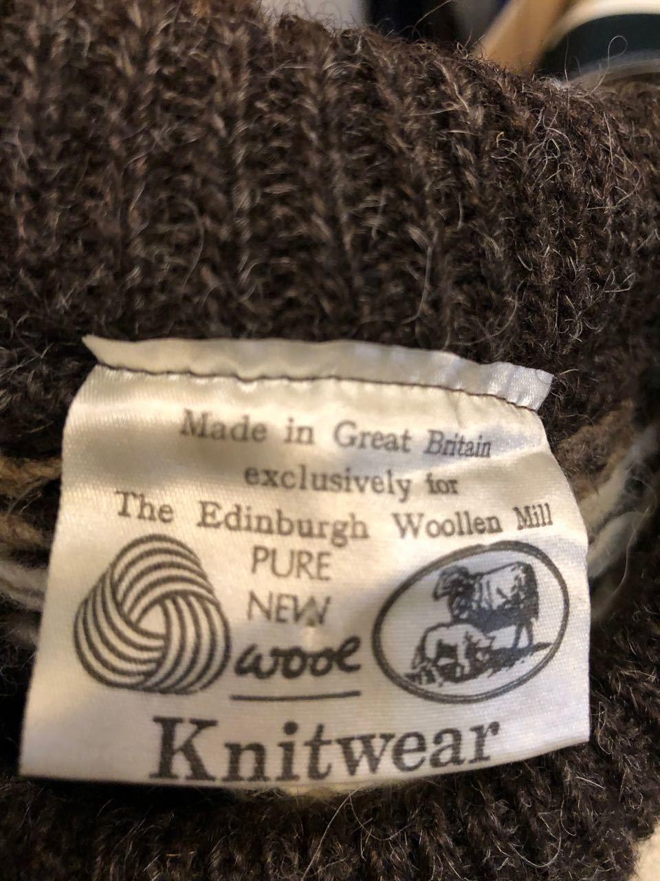MADE IN GREAT BRITAIN  WOOL セーター_c0144020_14232241.jpg