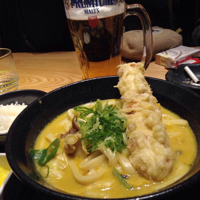 牛乳カレーが懐かしい「カレーうどん専門店千吉」で名古屋レッスン打ち上げ。_a0334793_03091811.jpg
