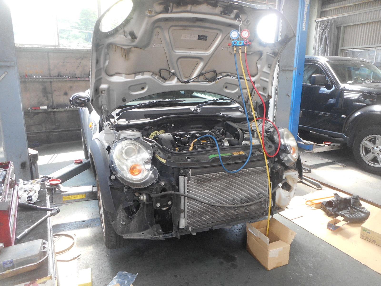 BMWミニ(R56)エンジンチェックランプ点灯修理とエアコン修理_c0267693_18364072.jpg