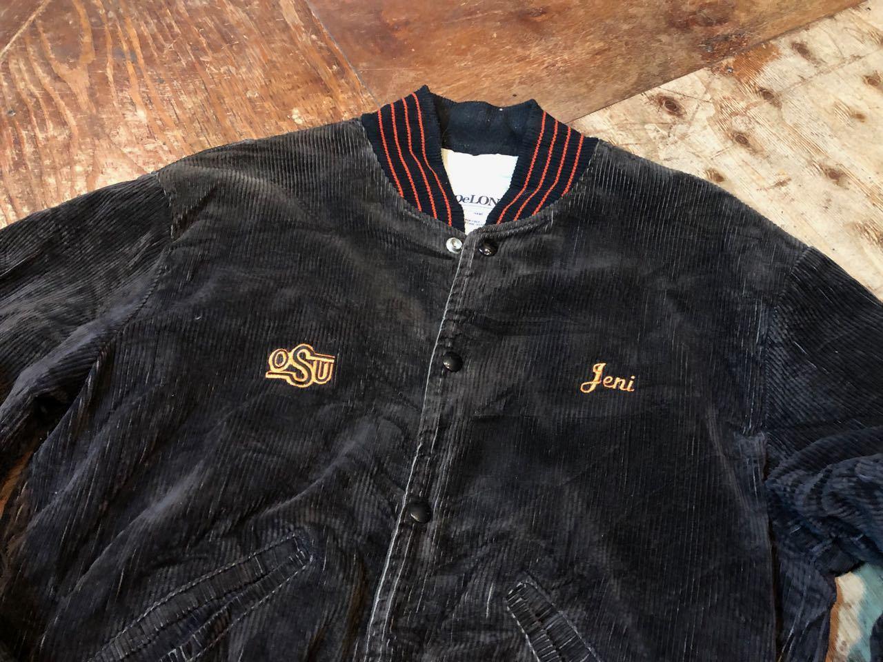 12/28(金)入荷! 80s  Embroidery  DELONG CORDUROY VARSITY JACKET !_c0144020_18452535.jpg
