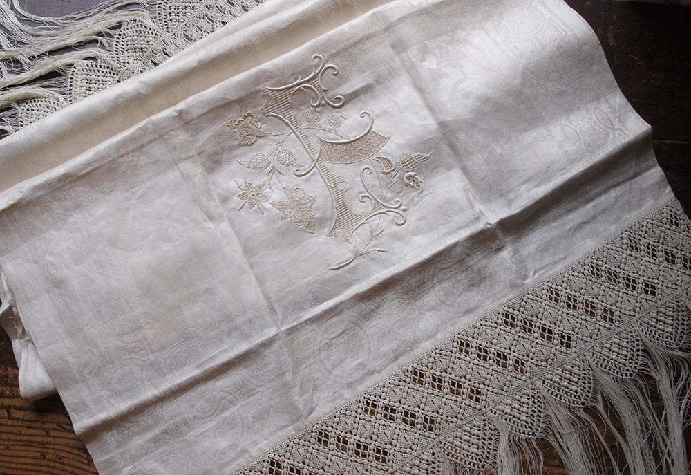 婚礼用 タオル 1900年 ホワイトワーク / F726_e0324838_01305236.jpg