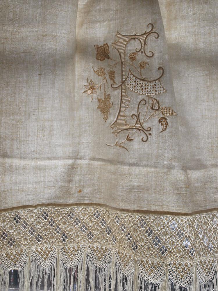 婚礼用 タオル 1900年 ホワイトワーク / F726_e0324838_01305294.jpg