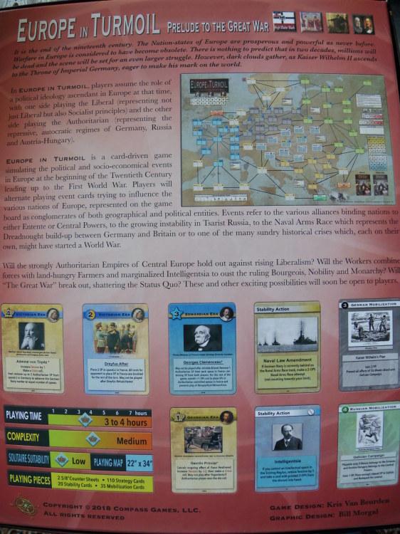(Compass)Europe In Turmoil: Prelude To The Great War...かつてのウォーゲーム・ブーム期を上回る勢いで続々と出版される最新ゲームたち①_b0173672_22161103.jpg