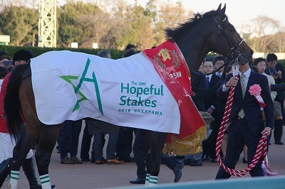 ホープフルSは、良血馬サートゥルナーリアが人気に応え無傷の3連勝でGI初制覇_b0015386_23310349.jpg