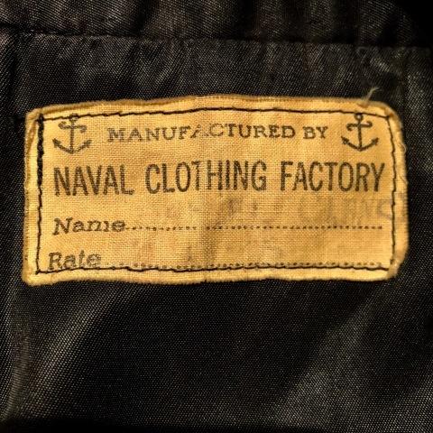 "1940s \"" U.S NAVAL CLOTHING FACTORY \"" - ALL Melton WOOL - Vintage 10 BUTTON P-COAT ._d0172088_17232207.jpg"
