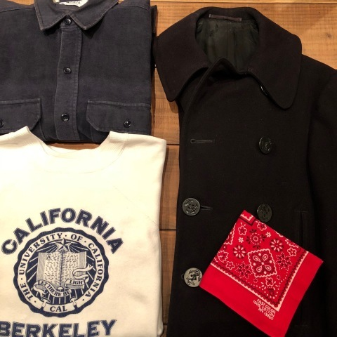 "1940s \"" U.S NAVAL CLOTHING FACTORY \"" - ALL Melton WOOL - Vintage 10 BUTTON P-COAT ._d0172088_17262248.jpg"