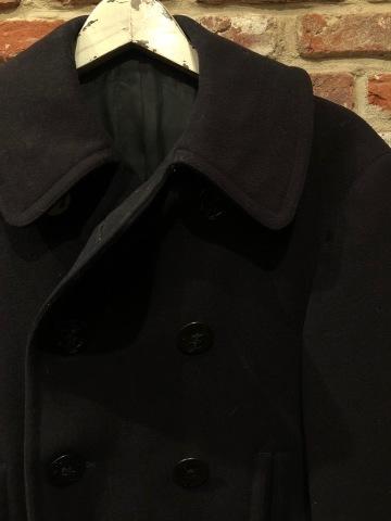 "1940s \"" U.S NAVAL CLOTHING FACTORY \"" - ALL Melton WOOL - Vintage 10 BUTTON P-COAT ._d0172088_17572359.jpg"