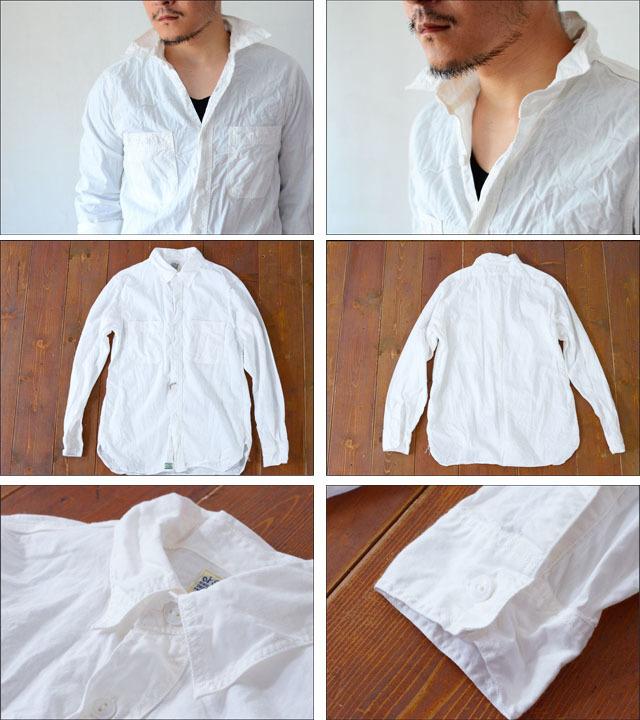 orslow [オアスロウ] CHAMBRAY SHIRTS WHITE [01-8070-69] シャンブレーシャツ ホワイト 白 MEN\'S_f0051306_17172367.jpg