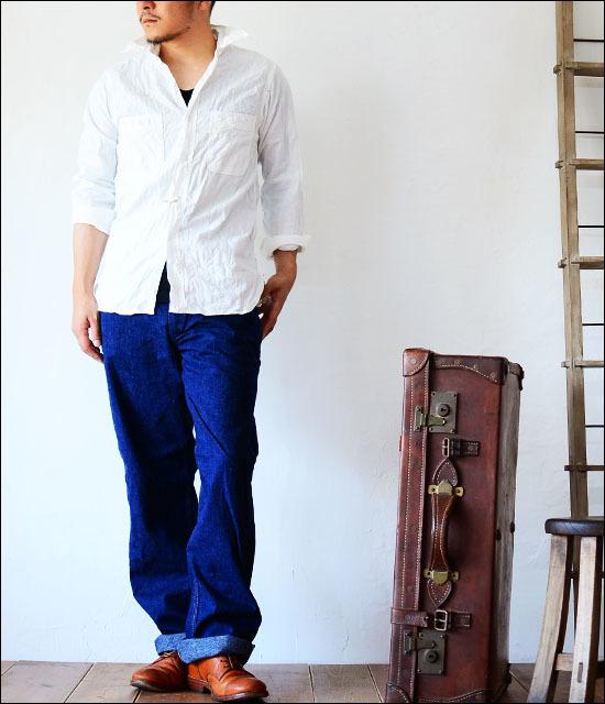 orslow [オアスロウ] CHAMBRAY SHIRTS WHITE [01-8070-69] シャンブレーシャツ ホワイト 白 MEN\'S_f0051306_17172695.jpg