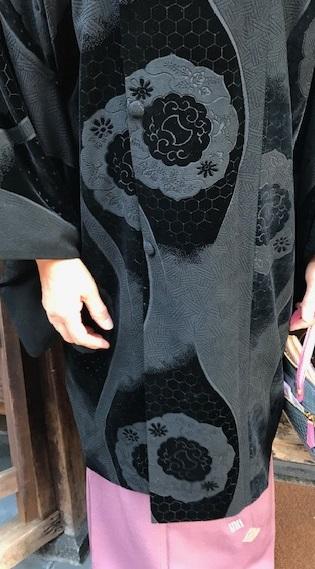 クリスマス会・お洒落なビロードのコートに龍の帯のお客様。_f0181251_11112818.jpg