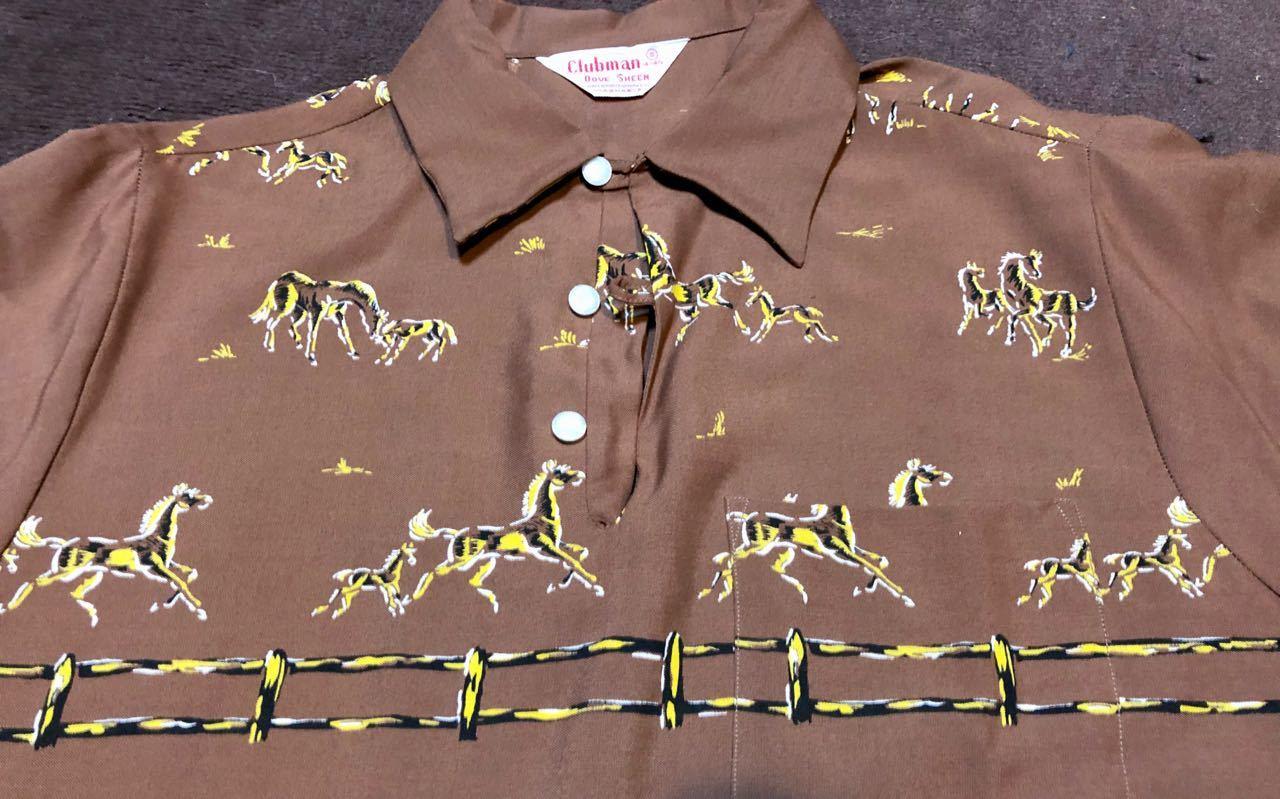 1/2新春入荷! 50s Clubman Dove- sheen ワンウォッシュ ビンテージ レーヨンシャツ!_c0144020_16081666.jpg