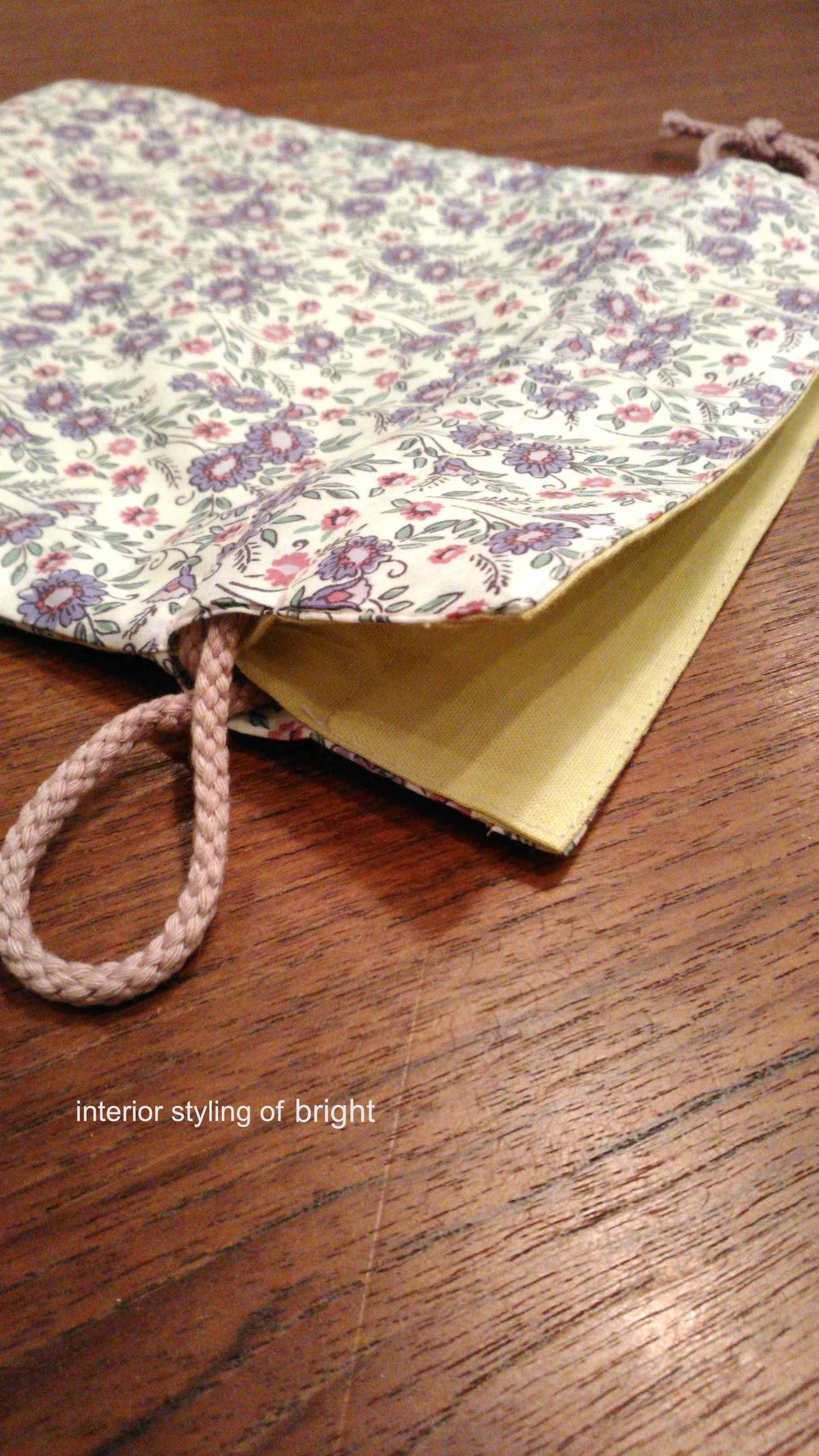 巾着の製作 ウィリアムモリス正規販売店のブライト_c0157866_17305529.jpg