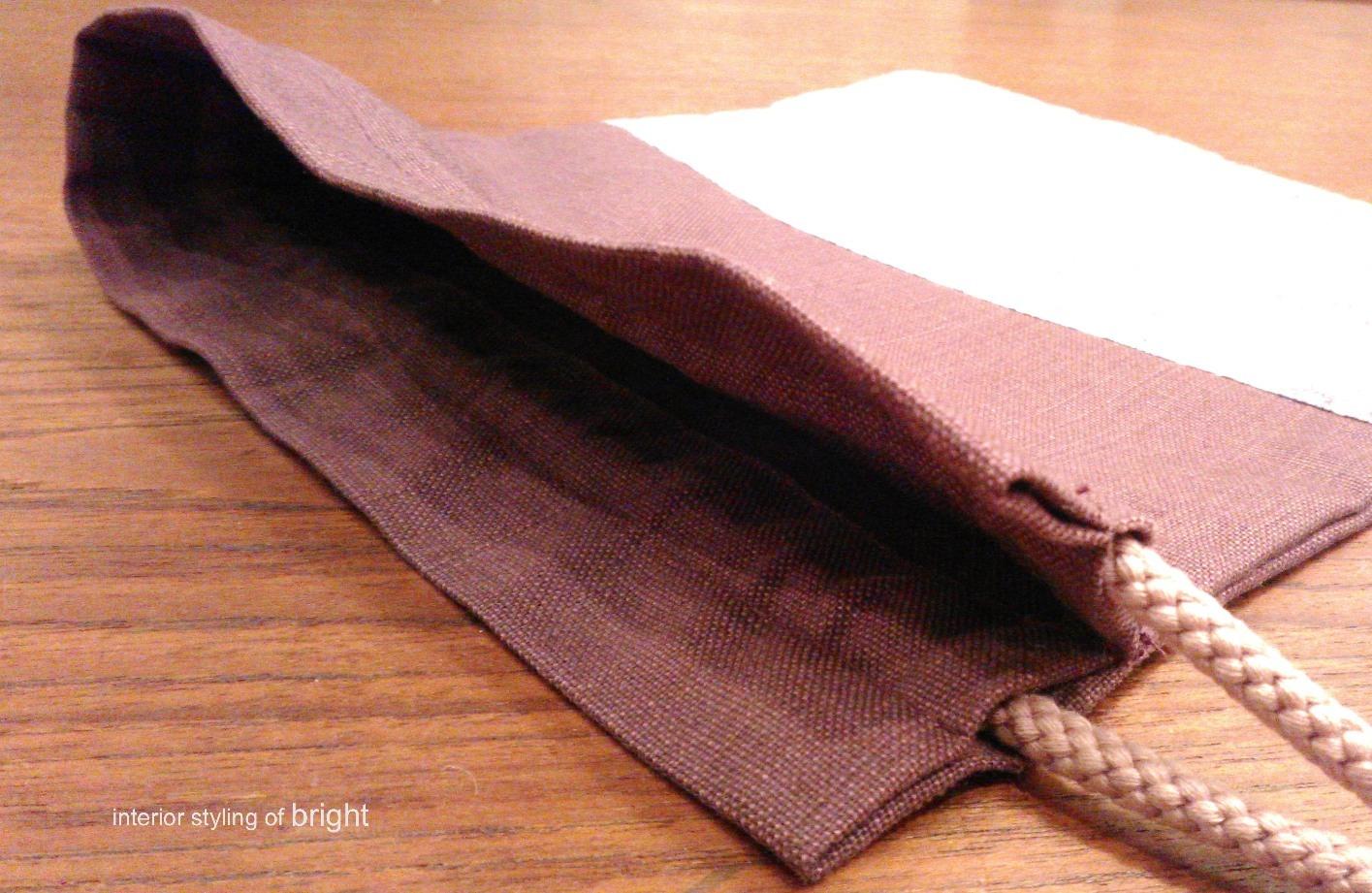 巾着の製作 ウィリアムモリス正規販売店のブライト_c0157866_17315354.jpg