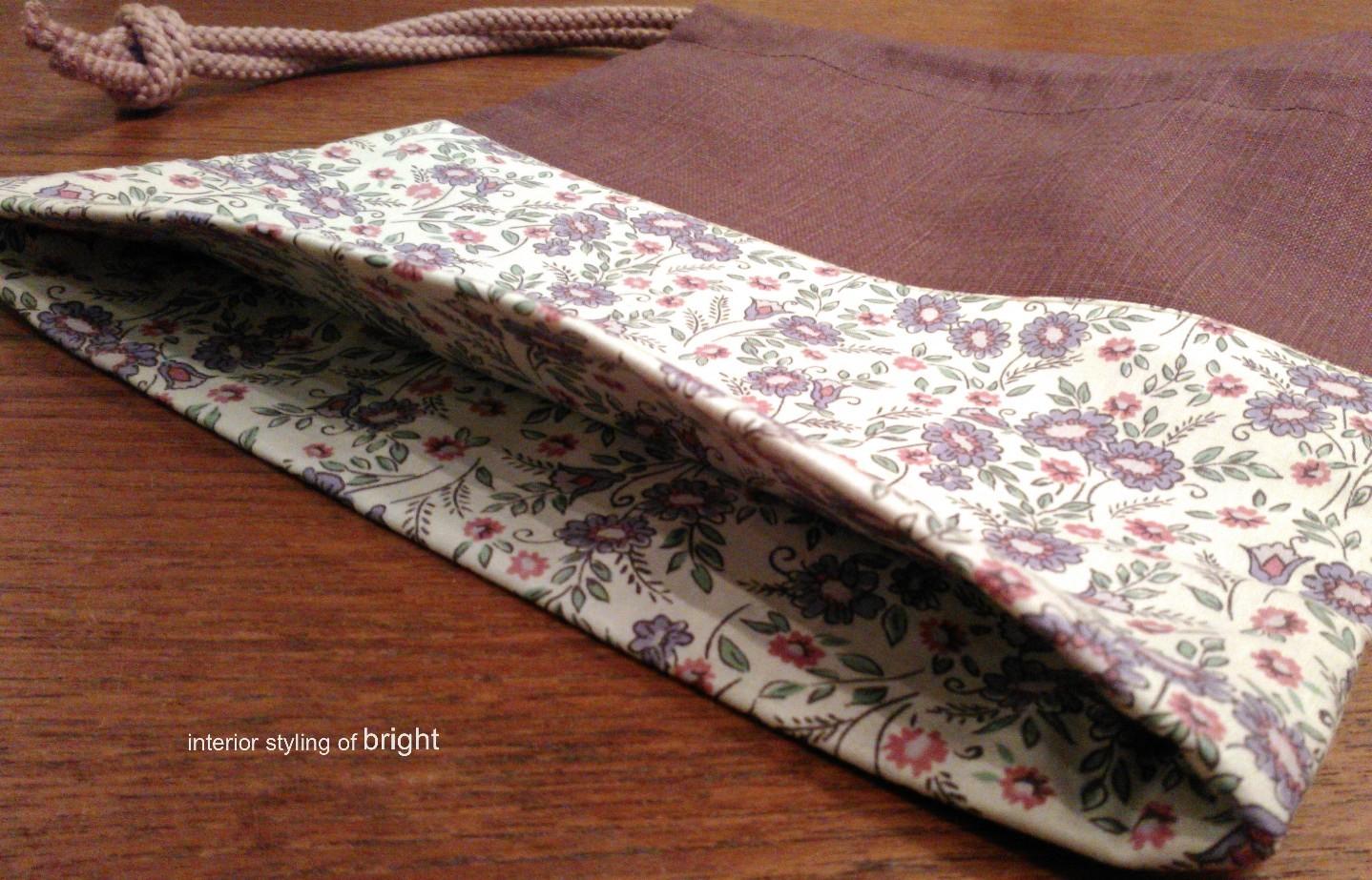 巾着の製作 ウィリアムモリス正規販売店のブライト_c0157866_17320652.jpg