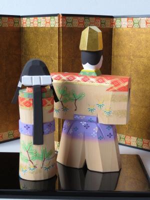 2019年奈良一刀彫 吉岡一泰雛人形展【立ち雛1】_e0256889_23255249.jpg