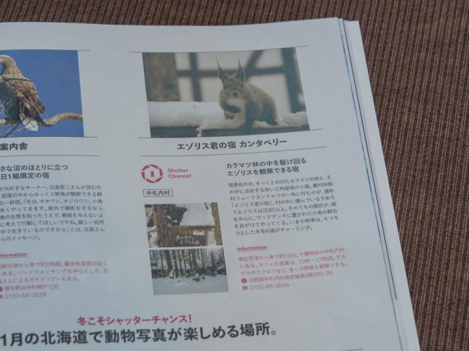 新年初エゾリス君が2匹・・AIR DOの機内誌にも掲載!_f0276498_15013847.jpg