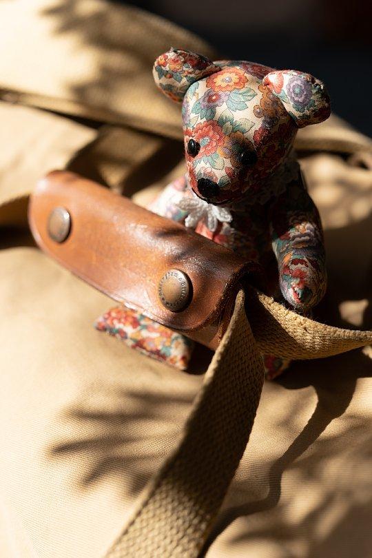 マクラメに宿る光蜥蜴を愛でるテディベア_d0353489_13404872.jpg