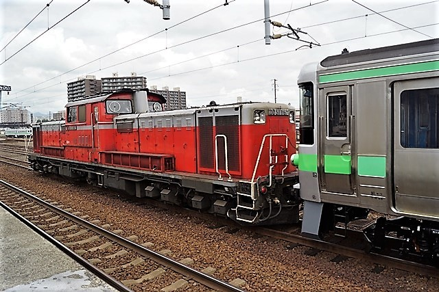 藤田八束の鉄道写真@仲の良い二人に会って嬉しいです。・・・目線で変わる車両の可愛さ、連結部分の可愛さ_d0181492_23133496.jpg