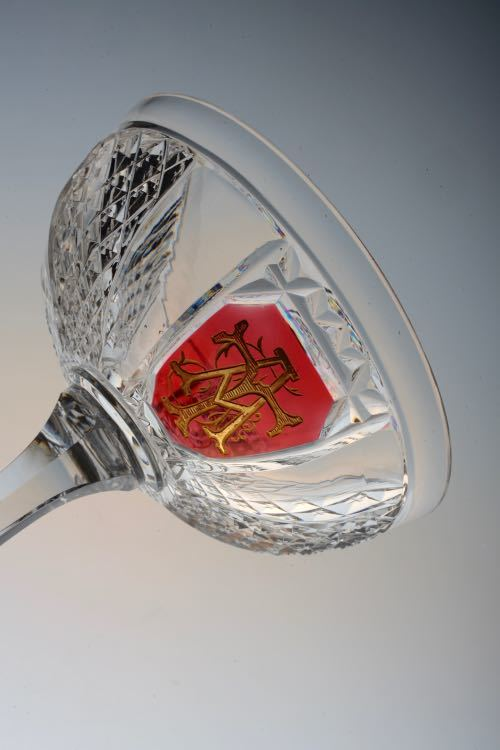 Baccarat Cut Initial Champagne coupe._c0108595_22360958.jpg