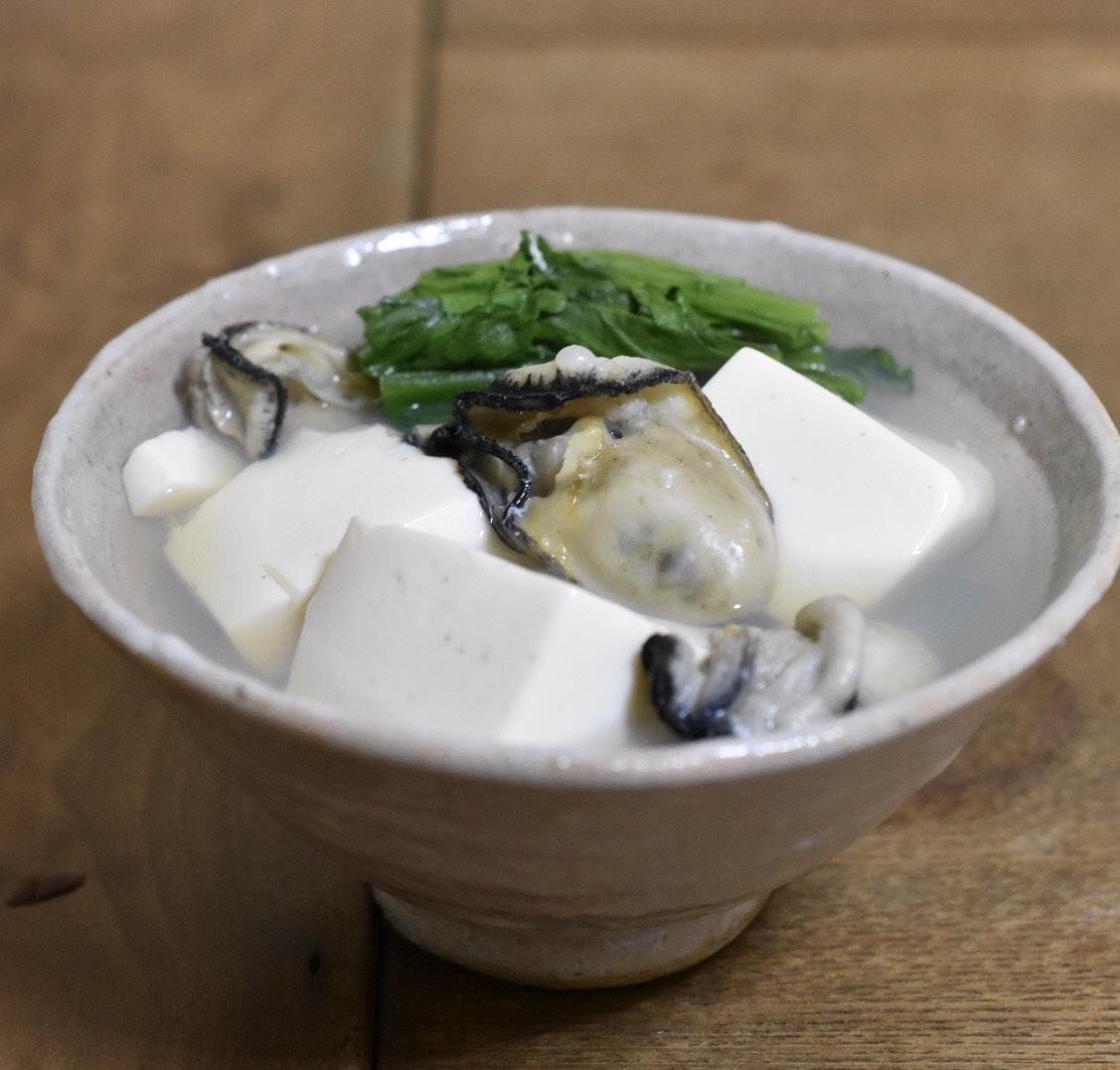 銀座三州屋さん風の牡蠣豆腐_d0122797_22375525.jpeg