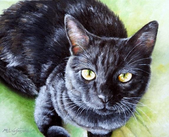 黒猫の油絵_b0089338_21424919.jpg